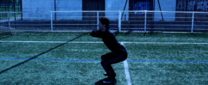 Photo de l'execution d'un squat.
